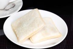 早晨早餐2面包 库存照片