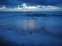 早晨海滩 图库摄影