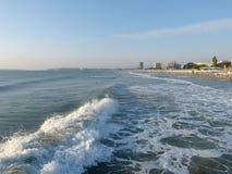 早晨海滩 库存图片