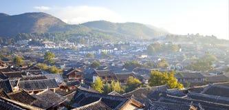 早晨的Lijiang老城镇,中国。 免版税库存图片