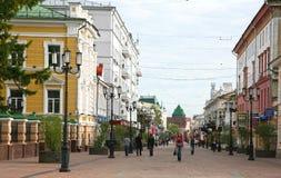 早晨秋天视图Bolshaya Pokrovskaya 免版税库存照片