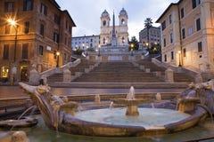 早晨罗马西班牙台阶 免版税库存图片