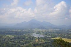 早晨薄雾的中央斯里兰卡 库存图片