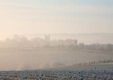 早晨薄雾, Cotswolds 库存照片
