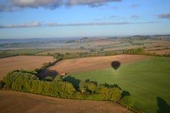 早晨视图在米德兰平原,英国 库存图片