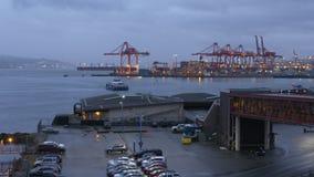 早晨通勤者Seabus到来,温哥华4K UHD 股票视频