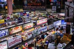 早晨食物市场在Chiangmai泰国 库存图片