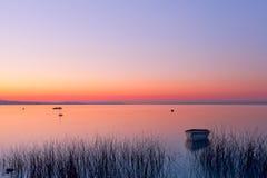 早晨,从Hungray的Balaton湖 库存图片