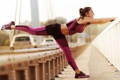 早晨锻炼 健康生活方式 免版税库存照片
