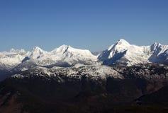 早期的冬天山雪 库存图片