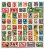 早期的加拿大邮票 免版税库存照片
