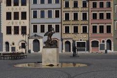 早期的华沙晴朗的市场,老城市 免版税库存照片