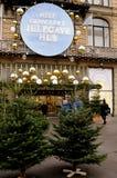 早期的圣诞节顾客和圣诞节装饰 库存照片
