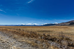 早期的在内华达山山的春天高山风景 图库摄影