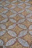 从早期的教会的Chersonese,俄罗斯,克里米亚的古色古香的拼花地板 库存照片