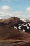 早期的横向山春天 喀尔巴汗,乌克兰,欧洲 免版税库存图片