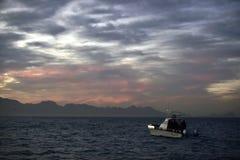 早期的横向早晨海运 图库摄影