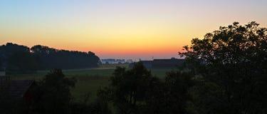 早期的横向早晨 库存照片