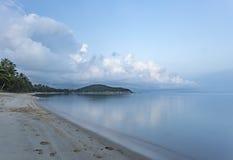 早期的横向早晨 Lipanoi海滩,酸值苏梅岛 库存图片