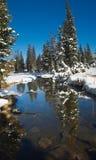 早期的湖山uinta冬天 库存照片