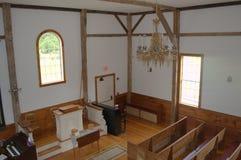 早期的美国,美洲印第安人教会 免版税图库摄影