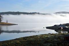 早期的薄雾早晨 库存照片