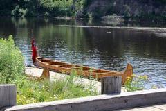 早期的贸易的独木舟 免版税图库摄影