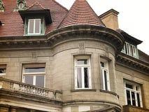 早期的20世纪豪宅 免版税图库摄影