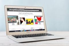 早期苹果计算机MacBook空气2014年 库存图片