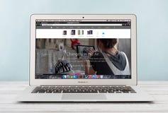早期苹果计算机MacBook空气2014年 免版税库存图片
