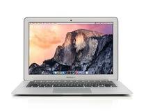 早期苹果计算机MacBook空气2014年 免版税库存照片