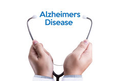 早老性痴呆症疾病概念,脑子退化疾病Parkin 库存照片