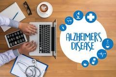 早老性痴呆症疾病概念,脑子退化疾病Parkin 免版税库存图片