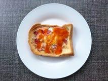 早餐、煎蛋火腿和乳酪 免版税库存照片