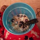 早餐为大豆正在进行中解救人 图库摄影
