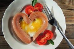 早餐为情人节 免版税库存照片