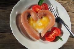 早餐为情人节 库存照片