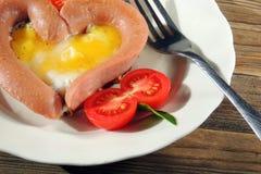 早餐为情人节 库存图片