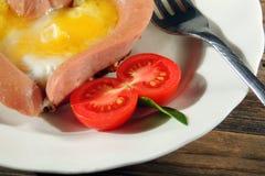 早餐为情人节 免版税库存图片