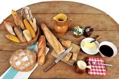早餐五法语 库存图片