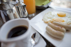 早餐会议 库存照片