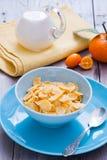 早餐健康的玉米片 免版税库存照片