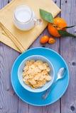 早餐健康的玉米片 免版税库存图片