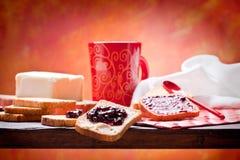 早餐健康营养素 免版税库存图片