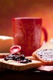 早餐健康营养素 免版税库存照片