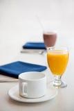 早餐健康起始时间 库存照片