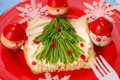 早餐儿童圣诞节 免版税库存图片