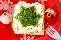 早餐儿童圣诞节 免版税库存照片