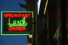 早餐午餐晚餐标志 免版税库存图片