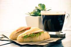 早餐和咖啡 免版税库存图片